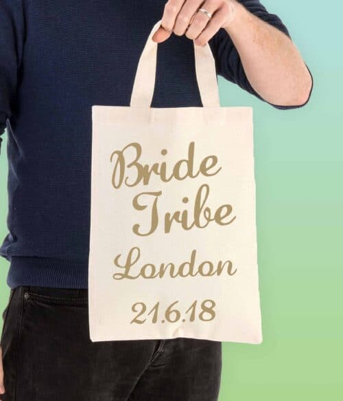 bride tribe personalised tote bag - doodle bag - personalised cotton tote bags