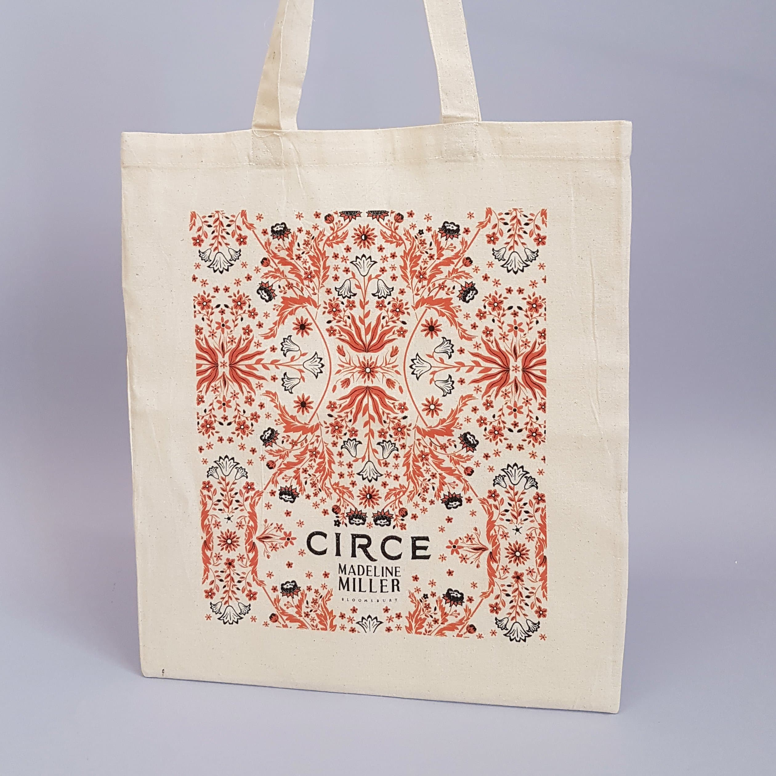 madeline miller screen print tote bag