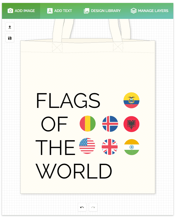 flags of the world tote bag - doodle bag