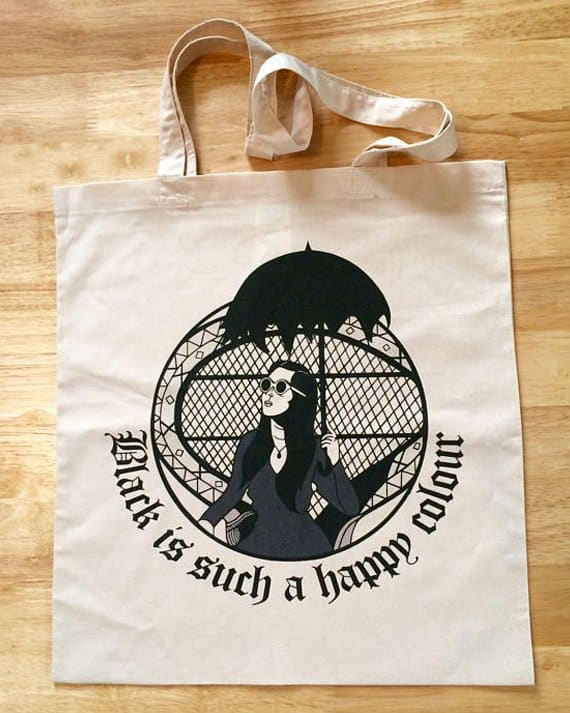 Morticia Adams Tote Bag