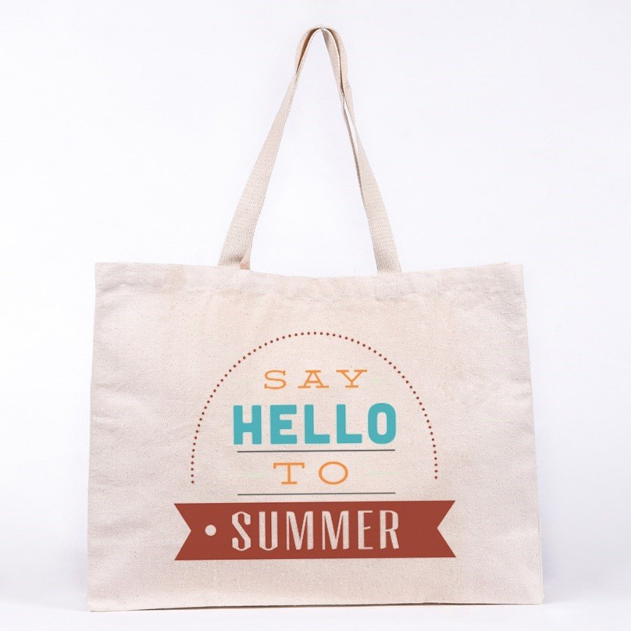 Beach bag with summery design