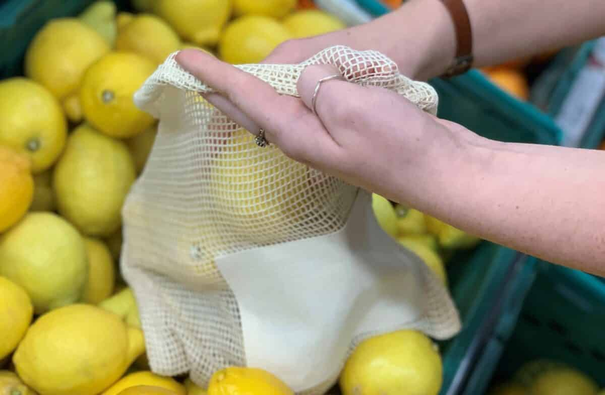 Lemons in a no waste bag