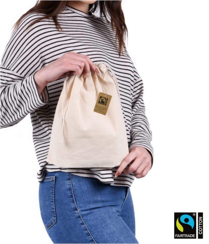 Fairtrade Medium Drawstring Bag