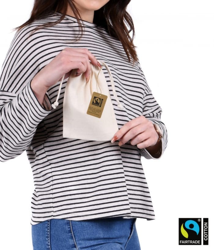 fairtrade Small Drawstring Bag