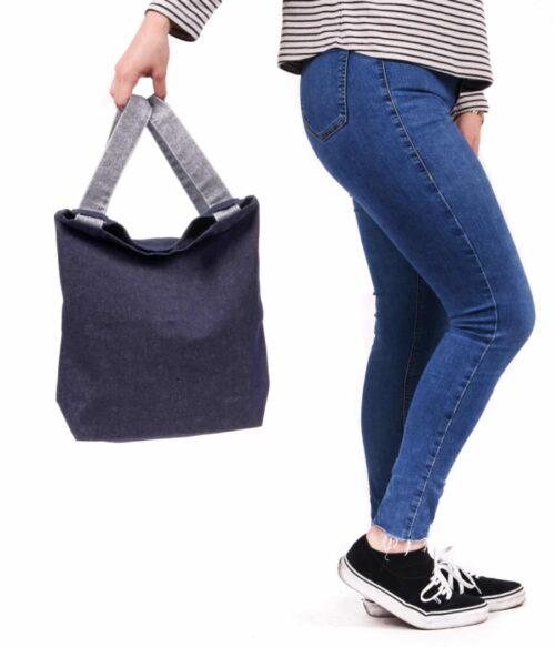 Denim Backpack shopper