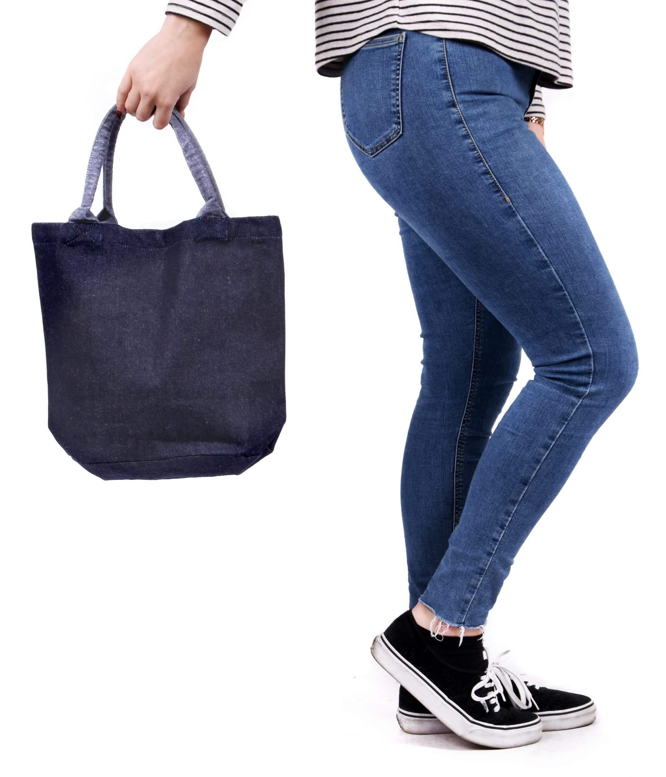 Denim Bucket Bag