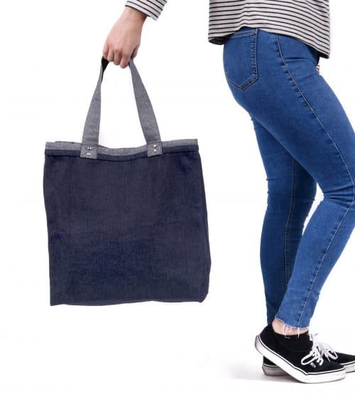 Lux Denim Shopper